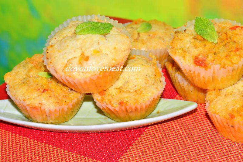 Кексчета с пролетни зеленчуци и сметана
