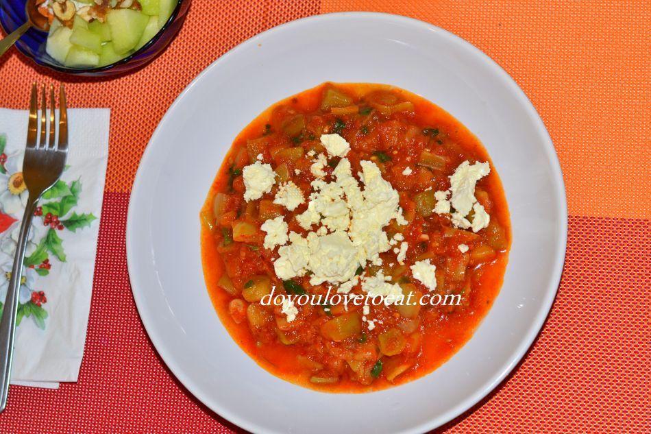Лятна манджа с патладжан, домати и чушки